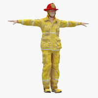 3D male t-pose