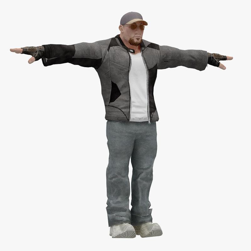 male t-pose 3D model