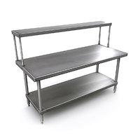 3D commercial kitchen prep table