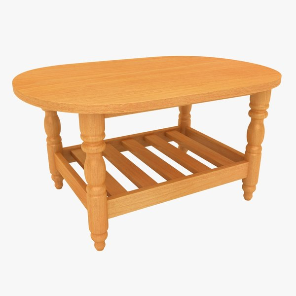 3D model wooden teapoy table 01
