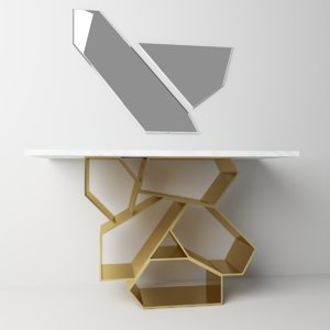 3D model decorative console table