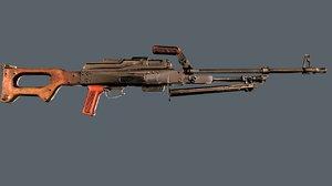machinegun pkm model
