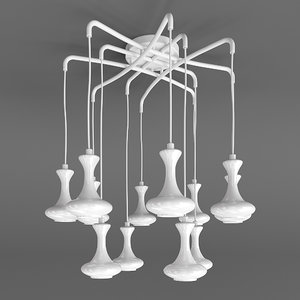 3D hanging chandelier favourite 1722-12p model