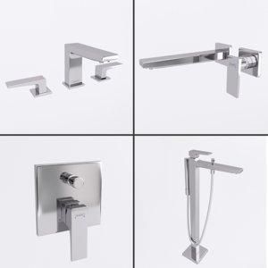 faucets bathroom interior 1 3D model