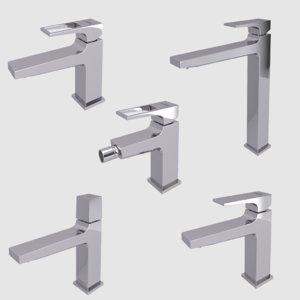 faucets bathroom interior 2 3D model