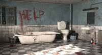 horror bathroom bath 3D model