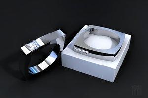 3D jewelry designer diamond ring