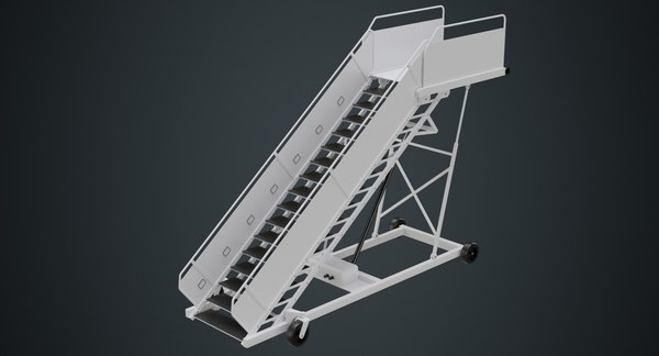 airplane stairs 1a 3D model
