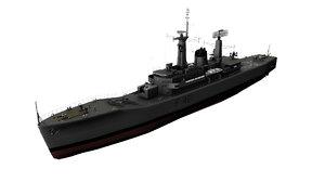 3D leander class frigates