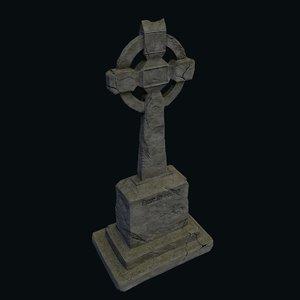 3D model celtic grave