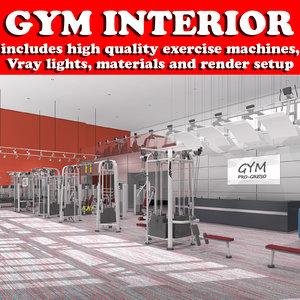 gym interior scenes model