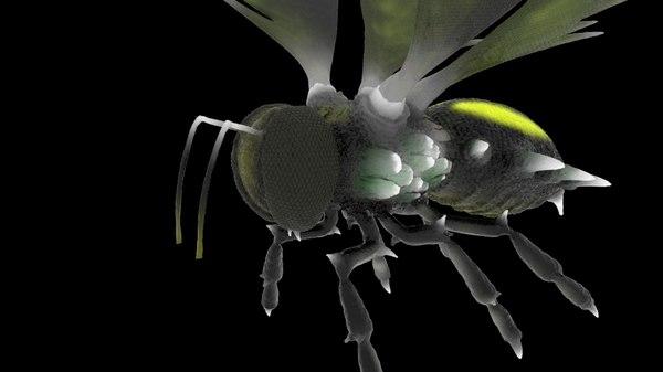 3D bee rig materials model