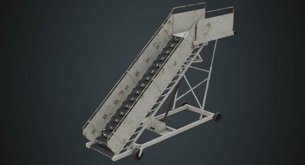 airplane stairs 1b 3D