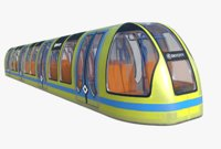 3D subway car model