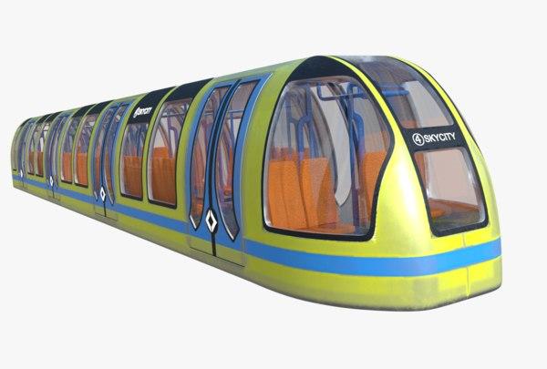 3D subway car model