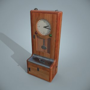 3D model antique time recorder -