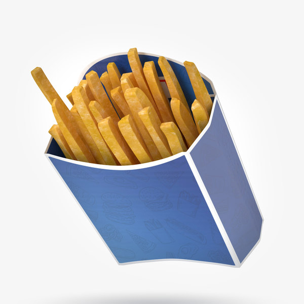 3D french fries packing model