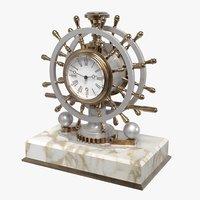 3D nautical desk clock model
