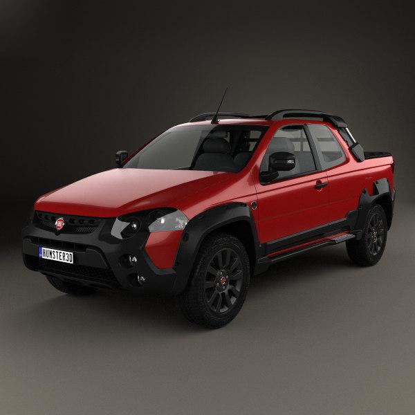 3d Model Fiat Strada Adventure