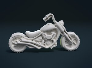 print ready motorcycle motorbike 3D model