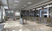 Bank Interior Scene
