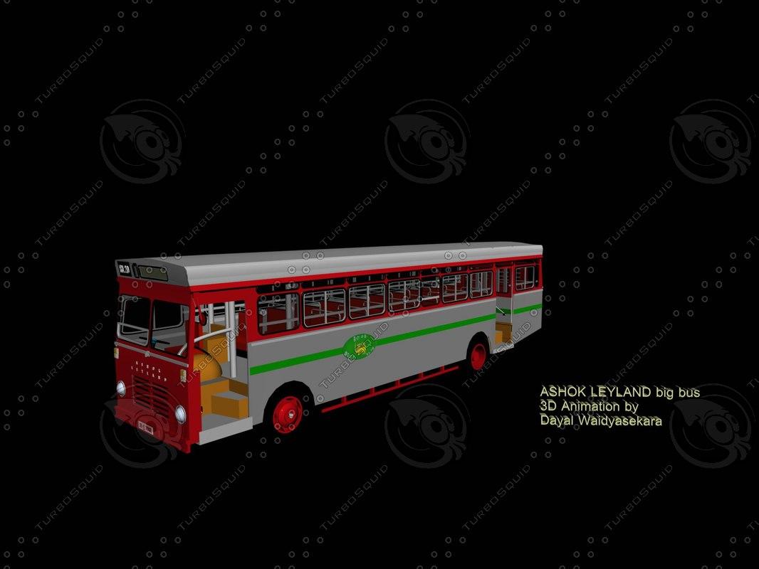 3D bus ashok leyland model
