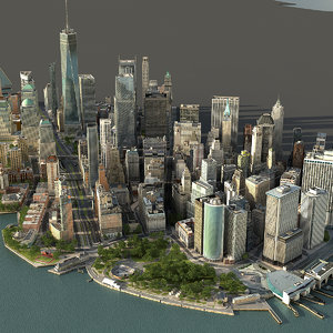 3D manhattan lower 2 3 model
