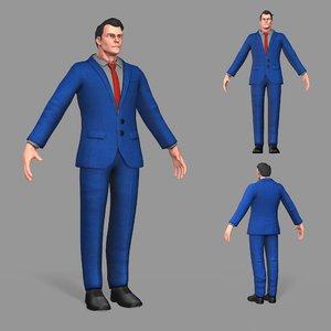 business suit man 3D
