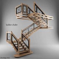 3D ladder chalet