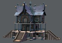 house cartoon v03 3D model