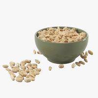 3D realistic peanuts saucer