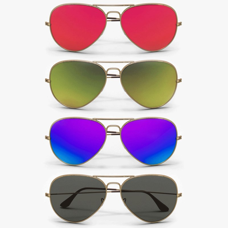 aviator sunglasses colors model