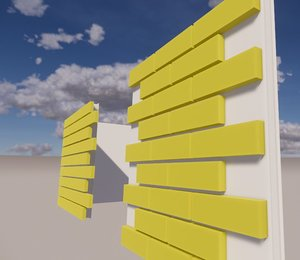 3D cladding wall revit family model