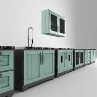 3D loft nightstand kitchen