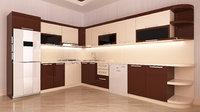 brown kitchen model