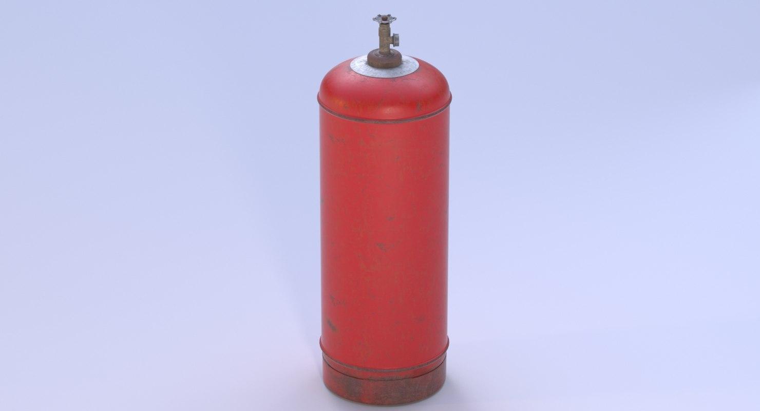gas cylinder old model