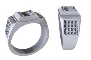 jewelry men ring stones 3D model