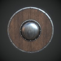 shield metallic 3D model