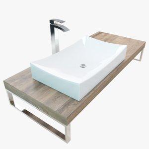 3D bathroom washbasin plate