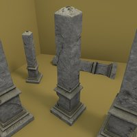 3D celtic obelisk model