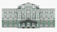 Great Drama Theater building facade in Saint Petersburg