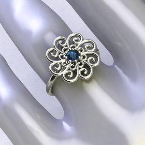 fashion gold ring spirals 3D