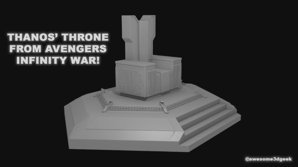 3D thanos throne infinity war