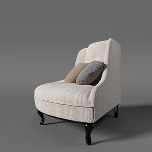 3D marlen sofa modelled model