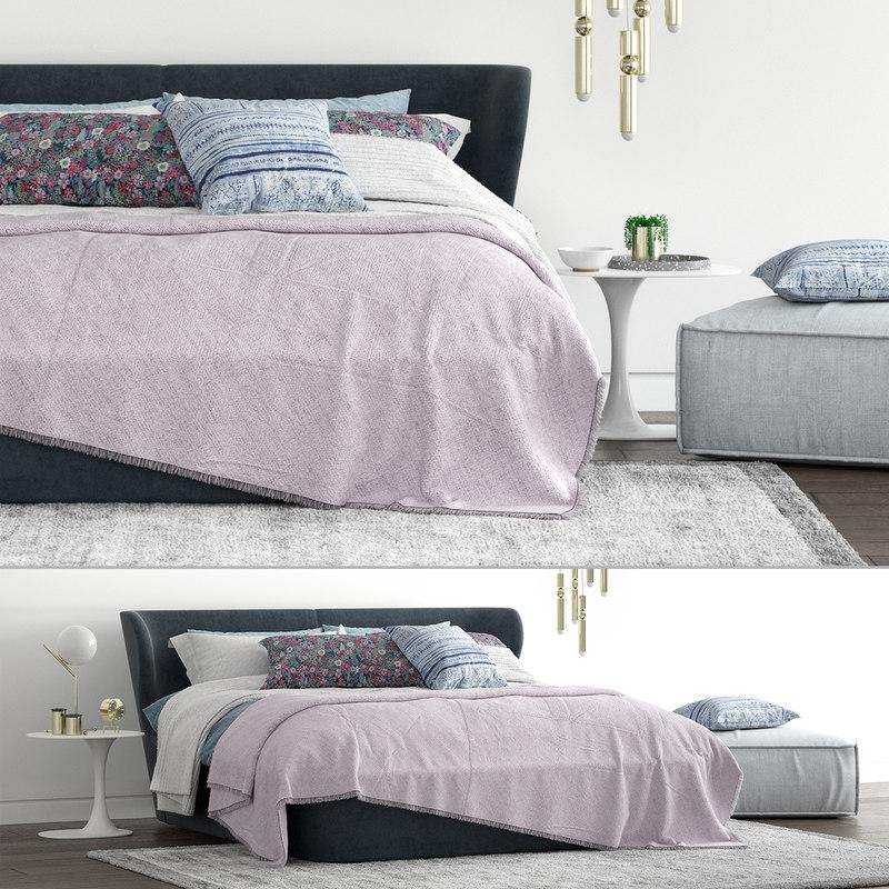 3D b italia papilio bed model