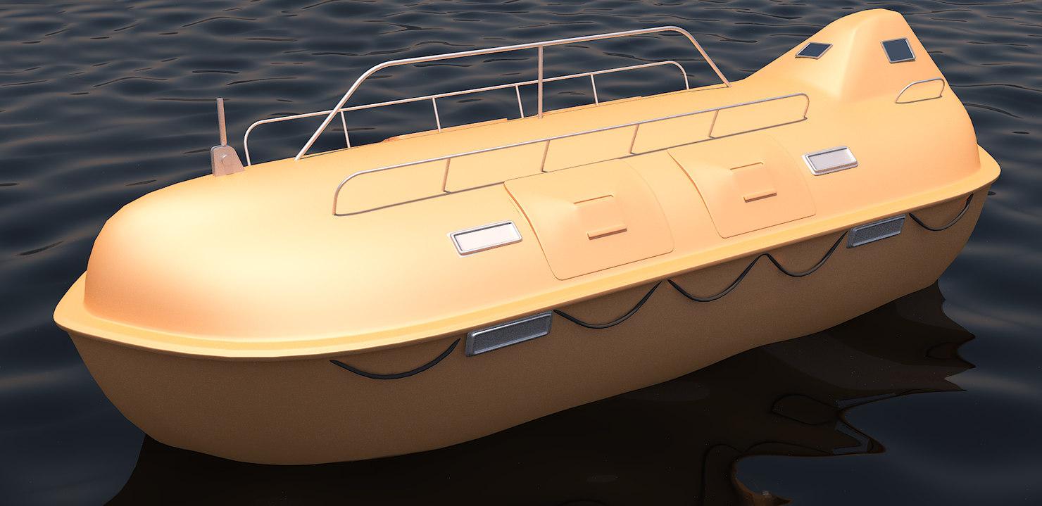 lifeboat ship 3D model