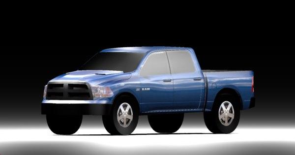 2009 dodge ram 3D