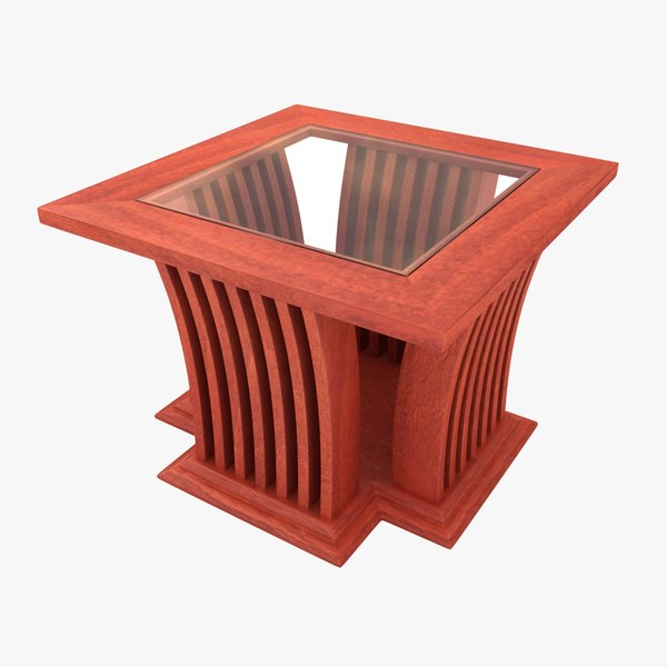 3D wooden teapoy table 02