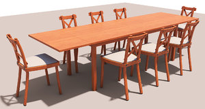 set table chair 3D model