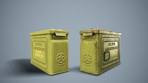 3D 30 box ammo model